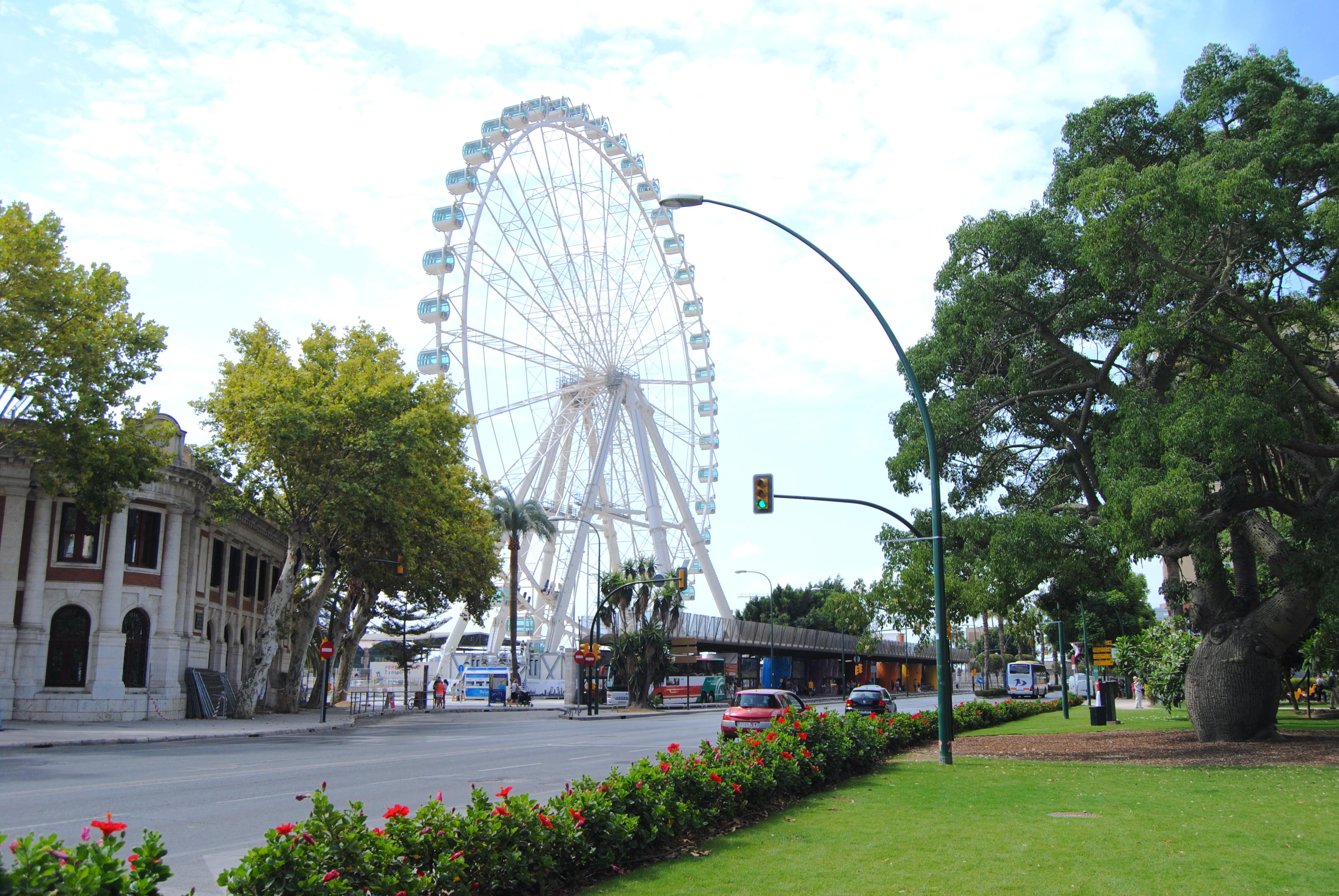malaga ferris wheel view