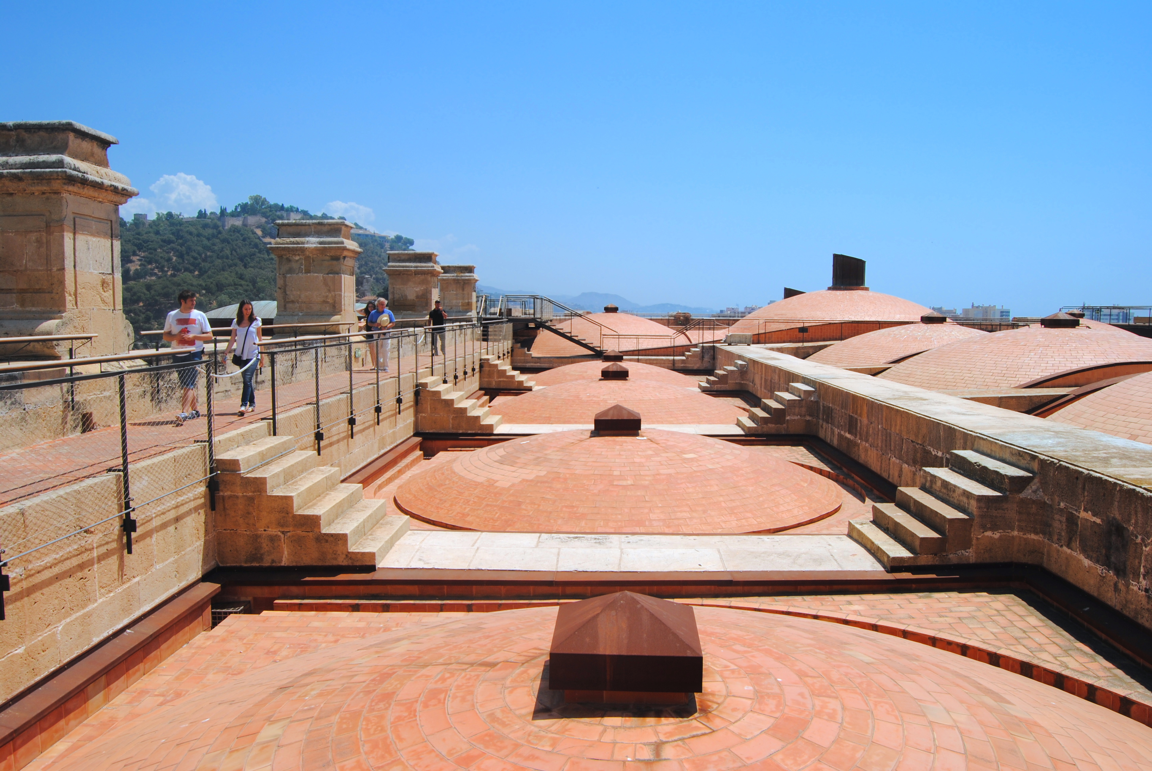 cubiertas visitables de catedral de Málaga