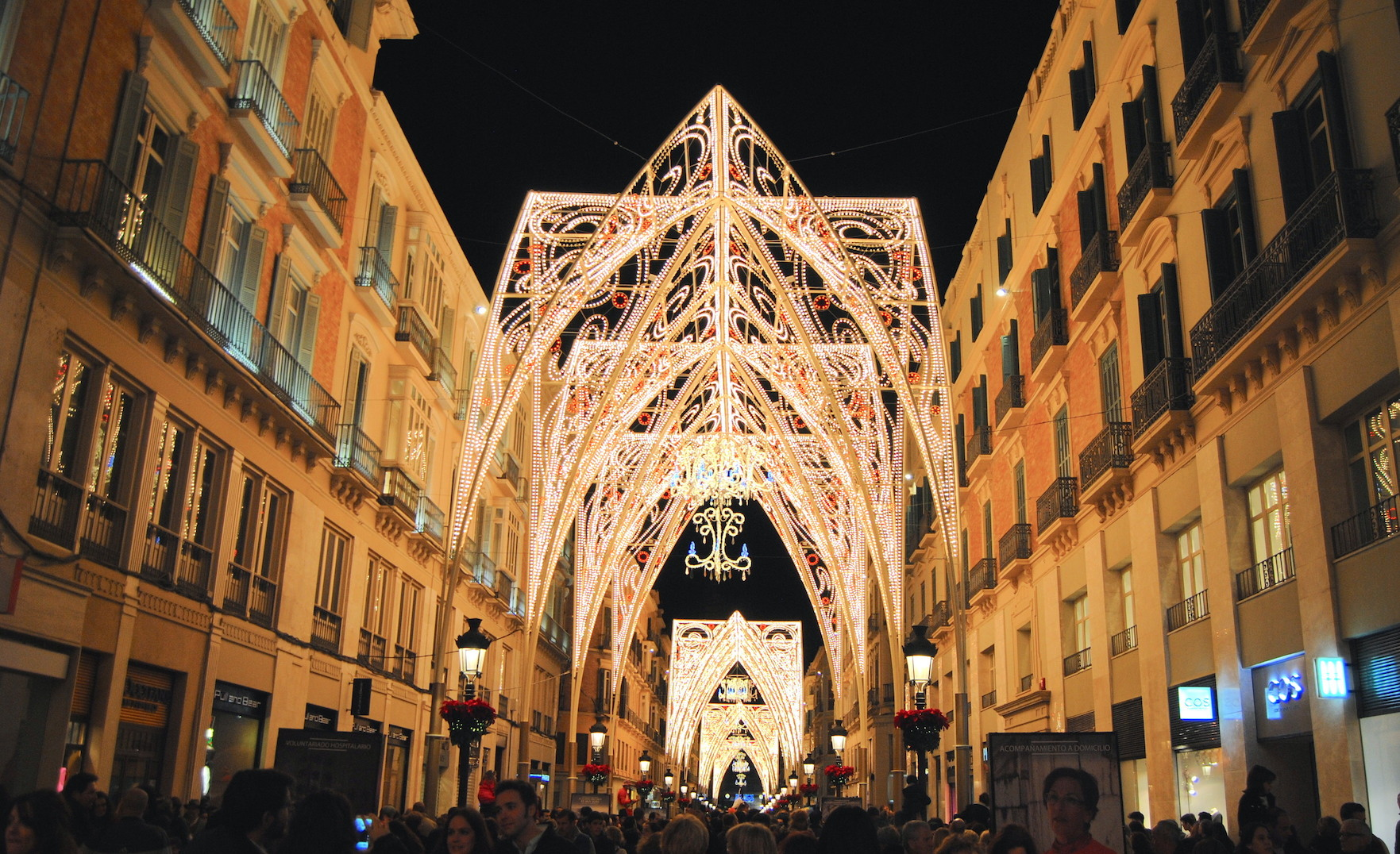 larios christmas light decoration malaga 2015